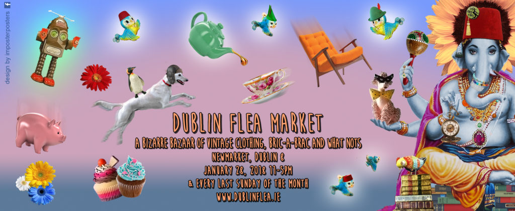Dublin Flea Market January 2018 Poster banner by Imposter Posters